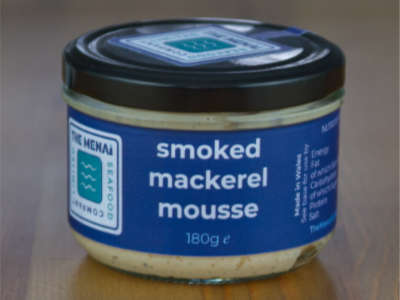 A jar of our luxury smoked mackerel mousse.